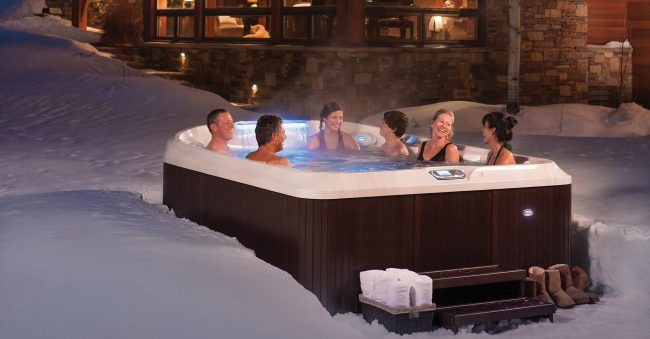 hot tub installation ideas knight tubs spas okemo. Black Bedroom Furniture Sets. Home Design Ideas